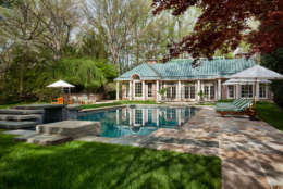 The circa-1919 Georgian estate sits on the banks of the Potomac River in McLean, Virginia. (Courtesy TTR Sotheby's International Realty)