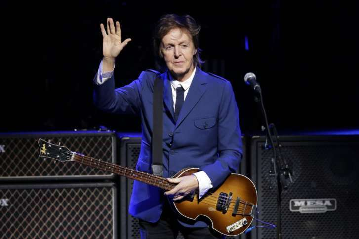 FILE In This Wednesday Oct 1 2014 File Photo Paul McCartney Performs During A Benefit Concert At The Tobin Center San Antonio Texas