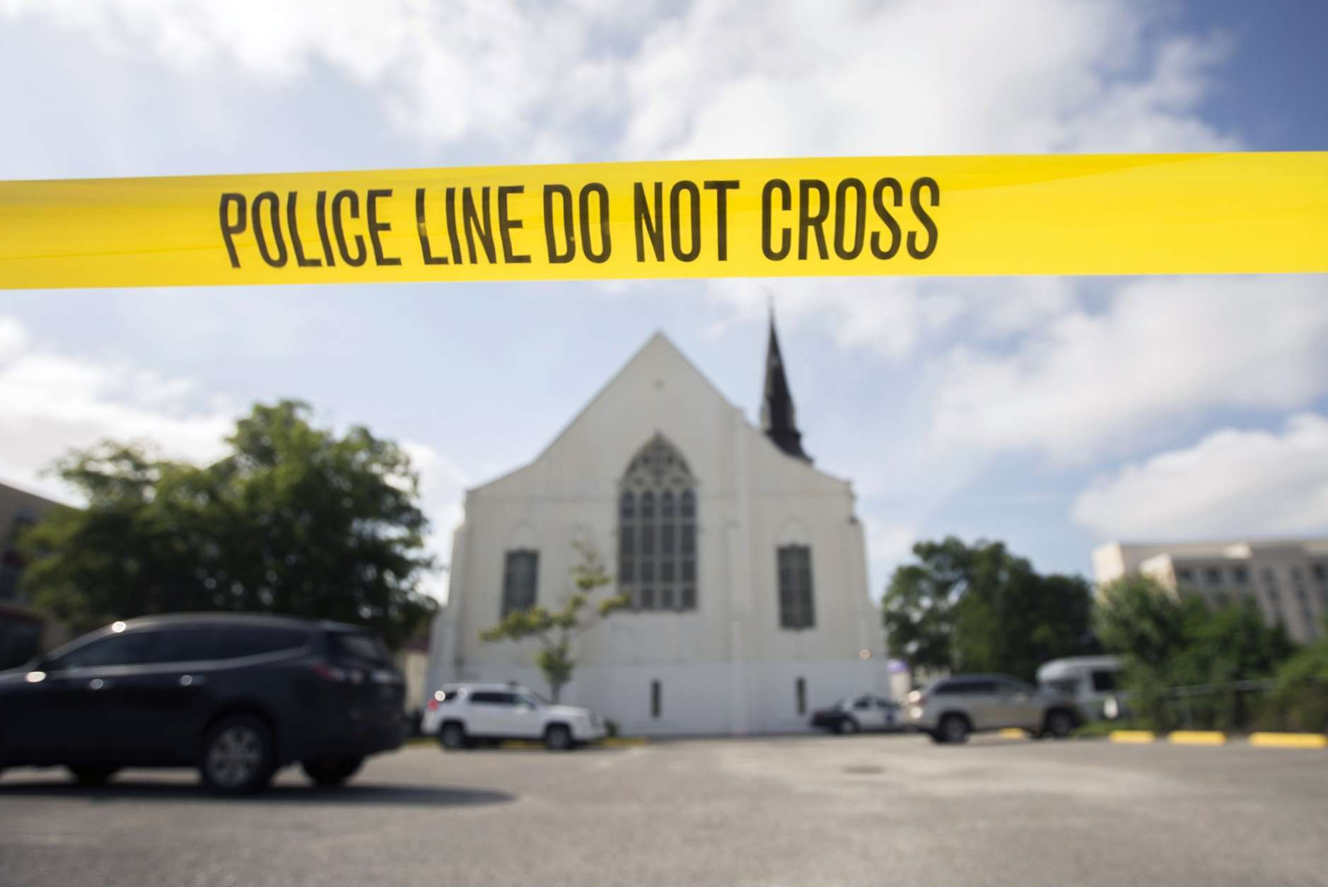 In 2015, nine people were shot to death in a historic African-American church in Charleston, South Carolina; suspect Dylann Roof was arrested the following morning. (Roof has since been convicted of federal hate crimes and sentenced to death; he later pleaded guilty to state murder charges and was sentenced to life in prison without parole.) (AP Photo/Stephen B. Morton, File)