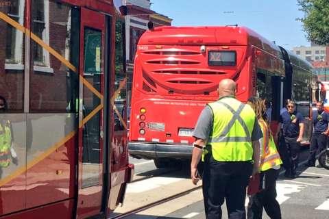 DC Streetcar rear-ends Metrobus, 10 hurt