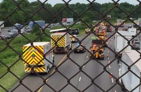 4 transported to hospital after Interstate 95 crash