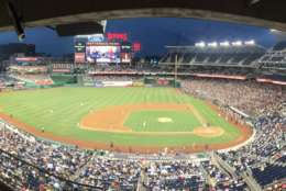 Nearly 25,000 attended Thursday's Congressional Baseball Game at Nats Park. (WTOP/George Wallace)