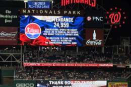 Attendance for Thursday's game at Nats Park set a record. (WTOP/George Wallace)