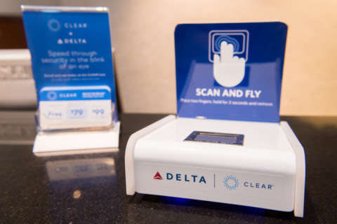Delta Air Lines ready for fingerprint boarding at Reagan National