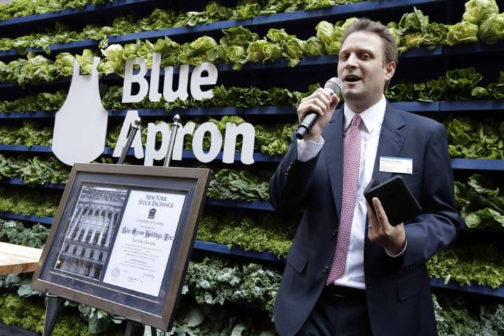 Blue Apron Rises 7% from IPO Price to $10.70