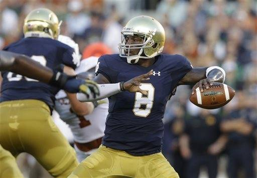 Former Notre Dame QB Zaire says he's going to Florida
