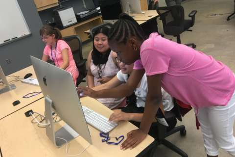 Video game class introduces young girls to a potential future in science