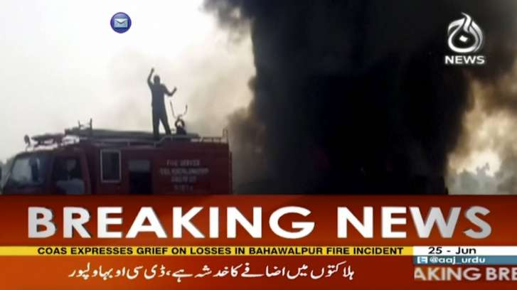 Pakistan oil tanker crash kills more than 100 people
