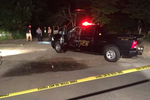 Police seek SUV driver who rammed officer's car at Md. state park