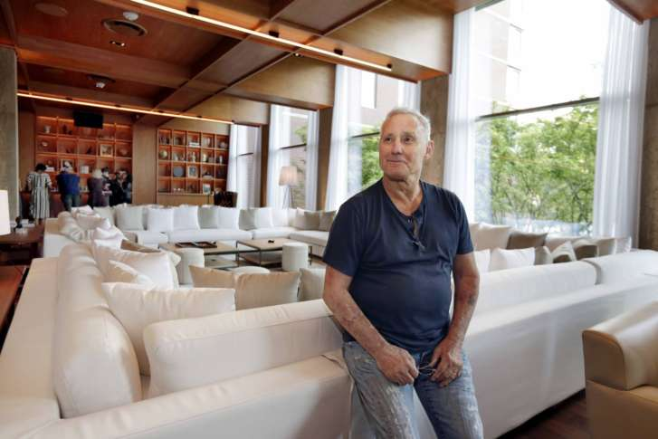 This June 1 2017 Photo Shows Hotelier Ian Schrager In A Lounge Area At His New Public Hotel York The On Manhattan S Lower East Side