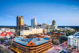 Raleigh, North Carolina, USA downtown city skyline. (Getty Images/iStockphoto/SeanPavonePhoto)