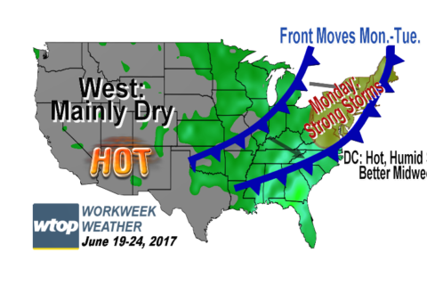 Workweek weather: Week starts with storms; summer officially arrives