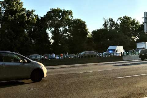 Woman killed after stepping out of car on Beltway; motorists stuck for hours after pair of crashes