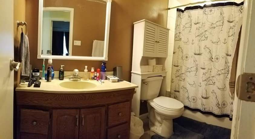 One of the things the Feeneys are trying to raise money for is wheelchair-friendly renovations to their home.  This is one of the bathrooms, which are particularly tricky for Katie to use. (CourtesyKatie Feeney)