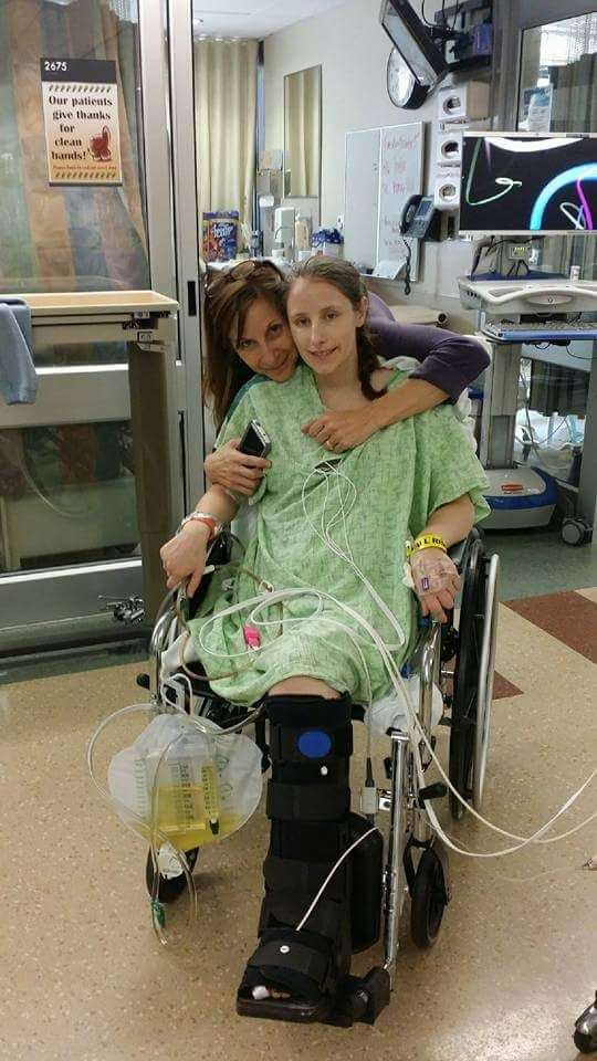 Katie Feeney was six months pregnant when she suddenly became very sick.  She lost her unborn child, and her right leg had to be amputated. (CourtesyKatie Feeney)