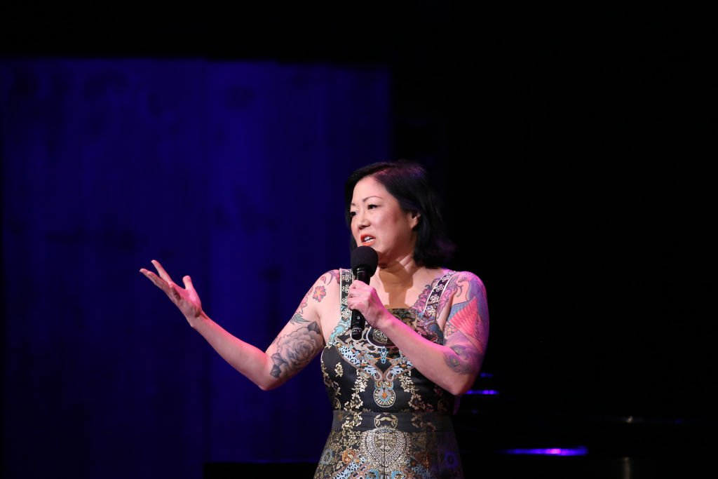 WASHINGTON, DC - JUNE 05: Margaret Cho performs on stage during the National Night Of Laughter And Song event hosted by David Lynch Foundation at the John F. Kennedy Center for the Performing Arts on June 5, 2017 in Washington, DC. (Photo by Tasos Katopodis/Getty Images for David Lynch Foundation)