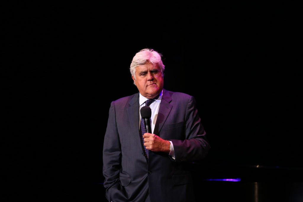 WASHINGTON, DC - JUNE 05: Jay Leno performs on stage during the National Night Of Laughter And Song event hosted by David Lynch Foundation at the John F. Kennedy Center for the Performing Arts on June 5, 2017 in Washington, DC. (Photo by Tasos Katopodis/Getty Images for David Lynch Foundation)
