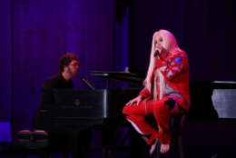 WASHINGTON, DC - JUNE 05: Kesha and Ben Folds perform on stage during the National Night Of Laughter And Song event hosted by David Lynch Foundation at the John F. Kennedy Center for the Performing Arts on June 5, 2017 in Washington, DC. (Photo by Tasos Katopodis/Getty Images for David Lynch Foundation)