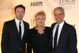 WASHINGTON, DC - JUNE 05:(L-R) Hugh Jackman, Deborra-Lee Furness, and Bob Roth attend the National Night Of Laughter And Song event hosted by David Lynch Foundation at the John F. Kennedy Center for the Performing Arts on June 5, 2017 in Washington, DC.  (Photo by Tasos Katopodis/Getty Images for David Lynch Foundation)