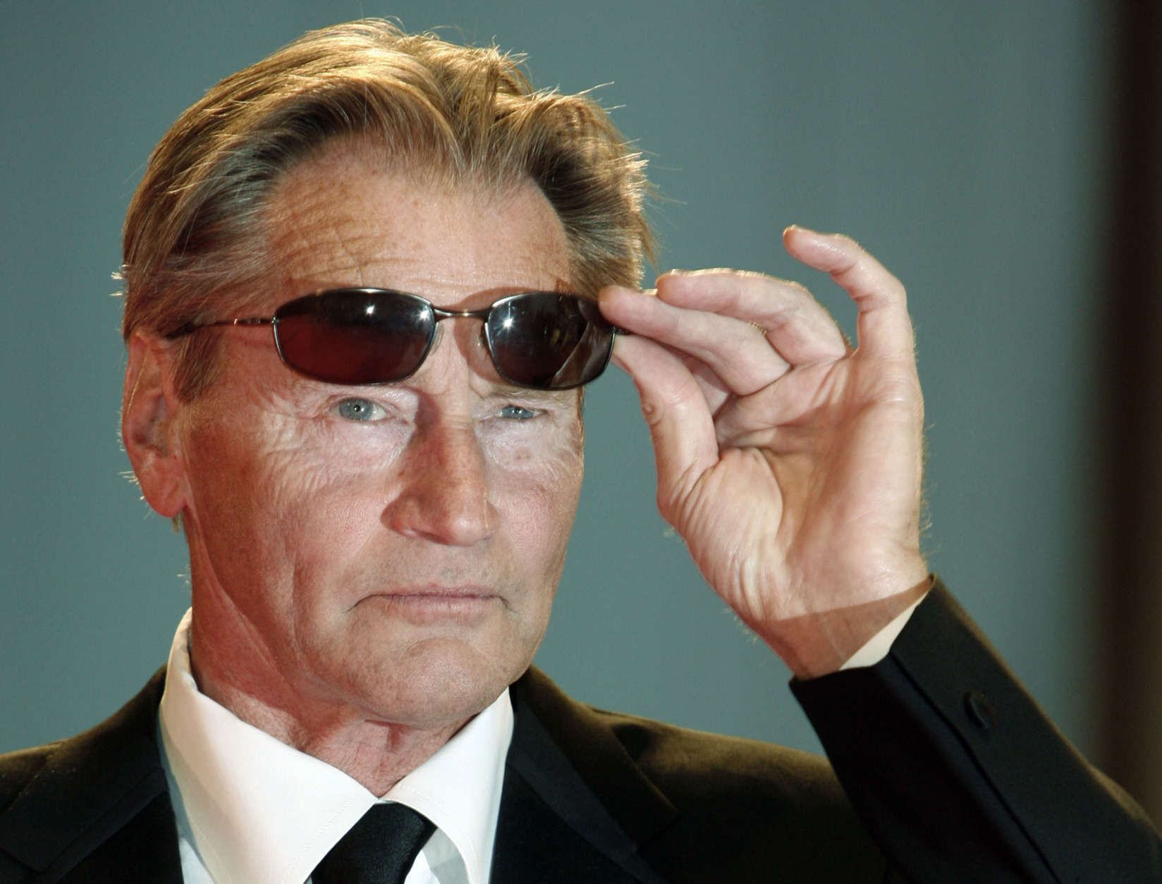 """Actor Sam Shepard arrives for the screening of his movie """"The assassination of Jesse James by the coward Robert Ford"""" at the 64th Venice Film Festival, in Venice, Italy, Sunday, Sept. 2, 2007. (AP Photo/Andrew Medichini)"""