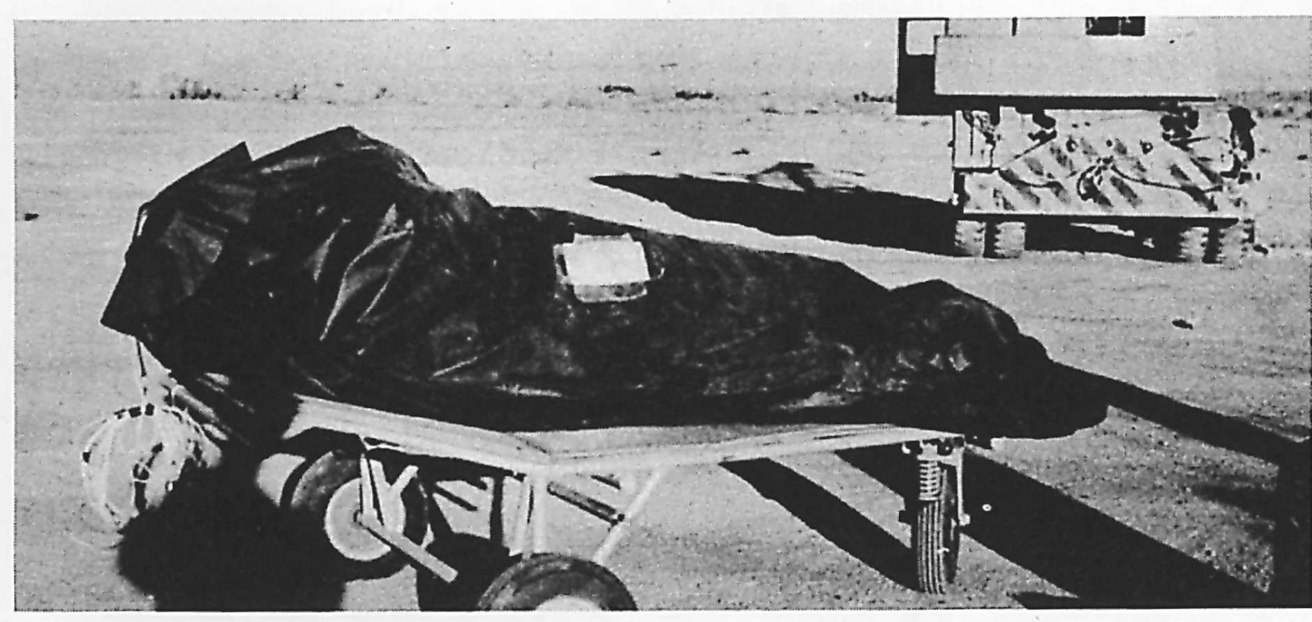 "FILE--This photo is from the Air Force's ""The Roswell Report,"" released Tuesday, June 24, 1997, which discusses the UFO incident in Roswell, N.M. in 1947. On balloon flights, test dummies were used and placed in insulation bags to protect temperature sensitive equipment. These bags may have been described by at least one witness as ""body bags"" used to recover alien victims from the crash of a flying saucer. The 231-page report, released on the eve of the 50th anniversary of the Roswell, N.M., UFO incident, is meant to close to book on longstanding rumors that the Air Force recovered a flying saucer and extraterrestrial bodies near Roswell. (AP Photo/Air Force, File)"