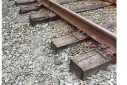 On the Red Line near Takoma, one of the rails moved up and down about four inches. The FTA said Metro might need to replace ties or resurface the area. (Courtesy FTA)