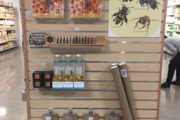 """""""It is a new initiative of ours this year to put beekeeping sections in stores where we can,"""" MOM's founder Scott Nash told WTOP. """"We're putting them in our stores to bring attention to backyard beekeeping and to show that anyone can do it,"""" he said. (Courtesy of MOM's Organic Market)"""
