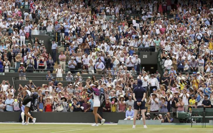 Wimbledon day eight: Djokovic books place in quarters, Johanna Konta makes history