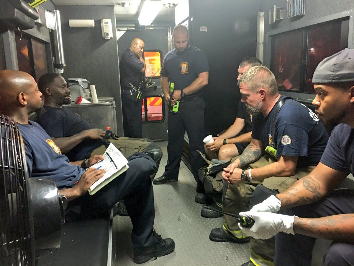 """""""We are rehabbing members after intensive battle,"""" D.C. Fire and EMS said via Twitter. (Courtesy D.C. Fire and EMS)"""
