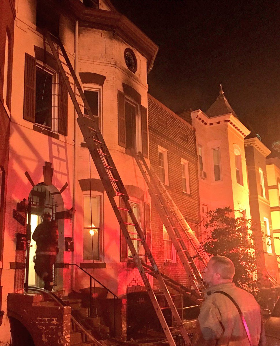 D.C. firefighters battled a blaze in the 200 block of Morgan Street NW in Northwest D.C. early Tuesday. (Courtesy D.C. Fire and EMS)