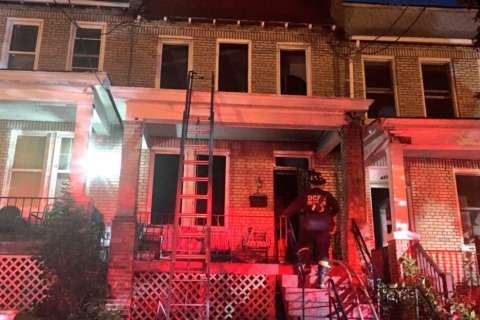 Fire strikes Petworth townhouse