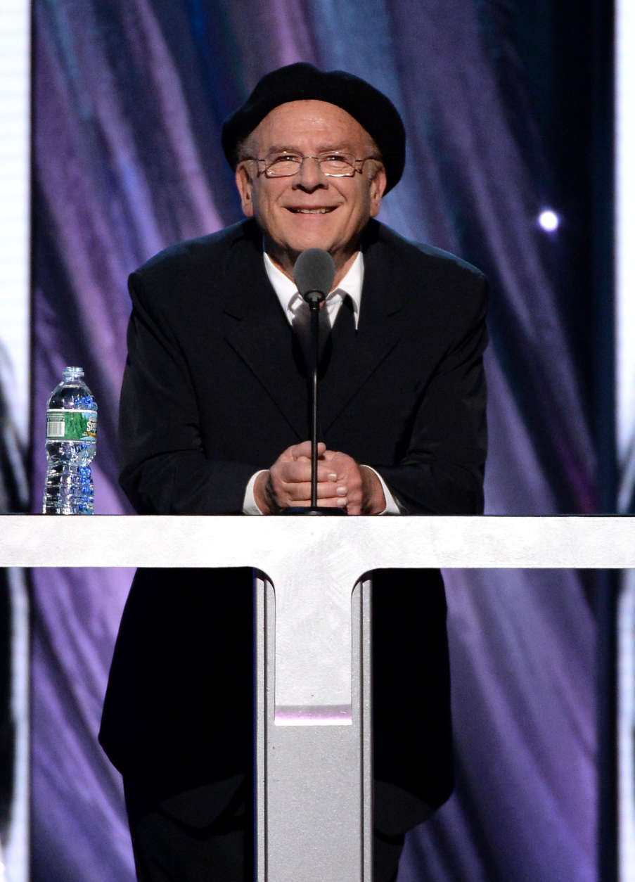 NEW YORK, NY - APRIL 10:  Musician Art Garfunkel speaks onstage at the 29th Annual Rock And Roll Hall Of Fame Induction Ceremony at Barclays Center of Brooklyn on April 10, 2014 in New York City.  (Photo by Larry Busacca/Getty Images)
