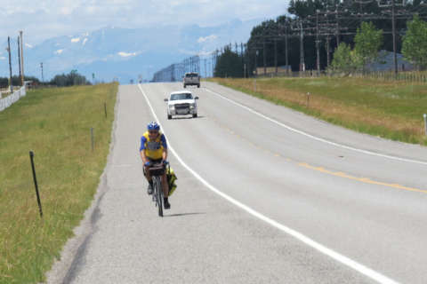 Scientist spreads the word on climate change — by biking across America