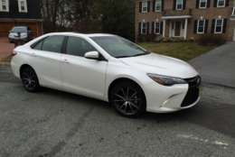 The 2017 Toyota Camry XSE V6 is a preview of what's to come in the future for the Camry models: more interesting styling, better handling and the usual comfort and room this sedan is known for. (WTOP/Mike Parris)