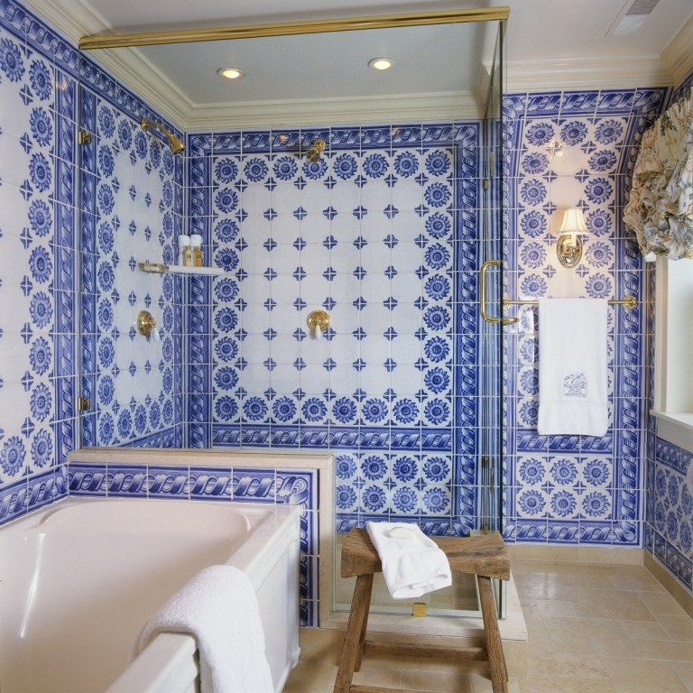 A photo of a bathroom at The Inn at Little Washington. In the last 40 years, Patrick O'Connell has transformed The Inn from an old auto garage into one of the most luxurious destinations in the country. (Courtesy The Inn at Little Washington)