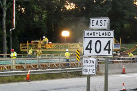 Beachgoers face slowdowns during Md. Route 404 widening