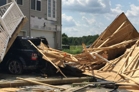 Photos: Tornado rips through Chesapeake Bay area