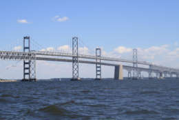 View of the Chesapeake Bay Bridge, photo taken from a boat on the Chesapeake Bay near Annapolis, Maryland (Thinkstock)
