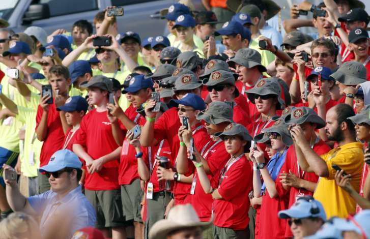 Boy Scouts Chant 'USA' For President Trump