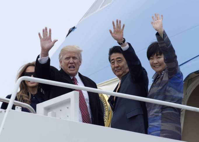 Trump claims Japanese first lady doesn't speak English