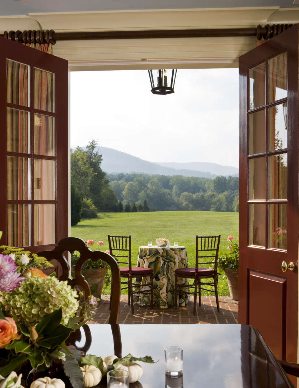 A view from the ballroom at The Inn at Little Washington, located about 70 miles outside of Washington, D.C. (Gordon Beall)