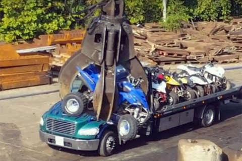 Watch: DC police destroy dozens of illegal ATVs, dirt bikes