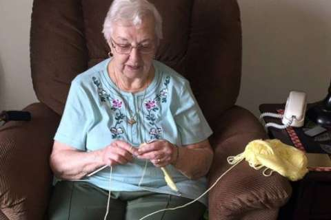 90-year-old grandmother has made over 2,000 tiny hats for newborns