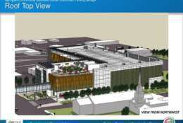 A roof top view of the commuter parking garage. (Courtesy Fairfax County)
