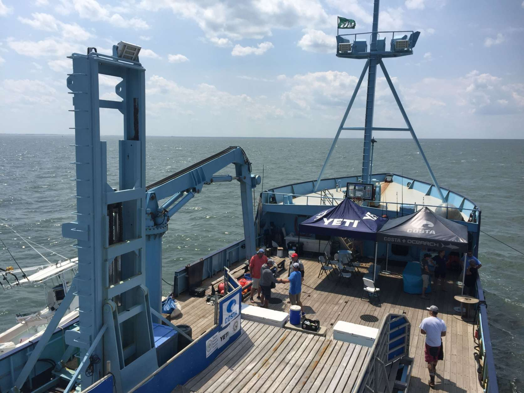 The OCEARCH is a 126-foot research vessel that just wrapped up its 29th shark tagging expedition along the mid-Atlantic coast. (WTOP/Michelle Basch)
