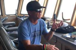 OCEARCH founding chairman and expedition leader Chris Fischer told WTOP about the importance of sharks to the marine food web. (WTOP/Michelle Basch)