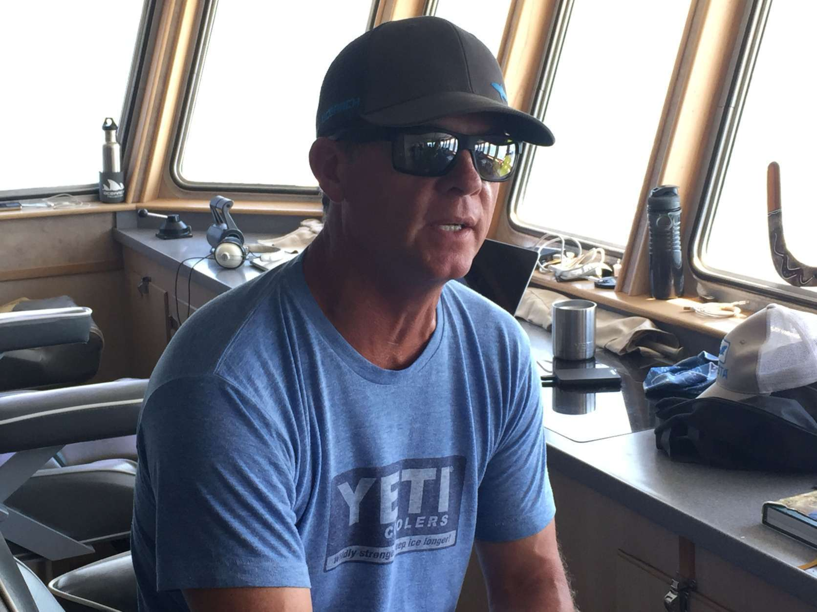 OCEARCH founding chairman and expedition leader Chris Fischer told WTOP about the importance of sharksto the marine food web. (WTOP/Michelle Basch)