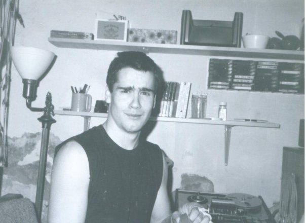 Henry Rollins, a friend of Minor Threat, at their first Skip Groff-produced recording session. (Courtesy Skip Groff)