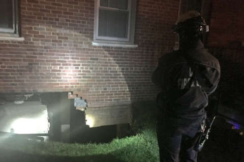 Heavy rain causes apartment wall collapse; 11 displaced
