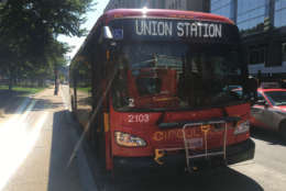 A DC Circulator bus on the Union Station route is seen in this 2017 WTOP file photo. (WTOP/Max Smith)